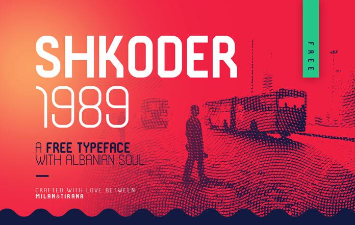 Free typeface: Shkoder 1989