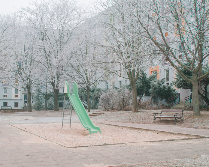 A playground without playing children.