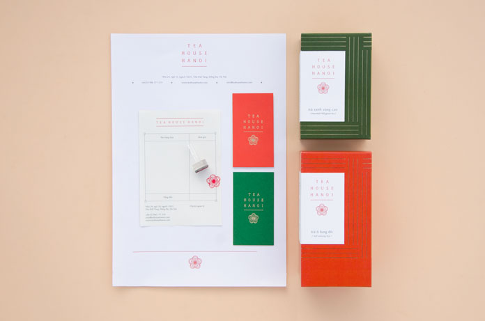 Tea packaging and stationery system.