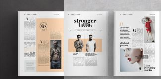 Adobe InDesign magazine template.