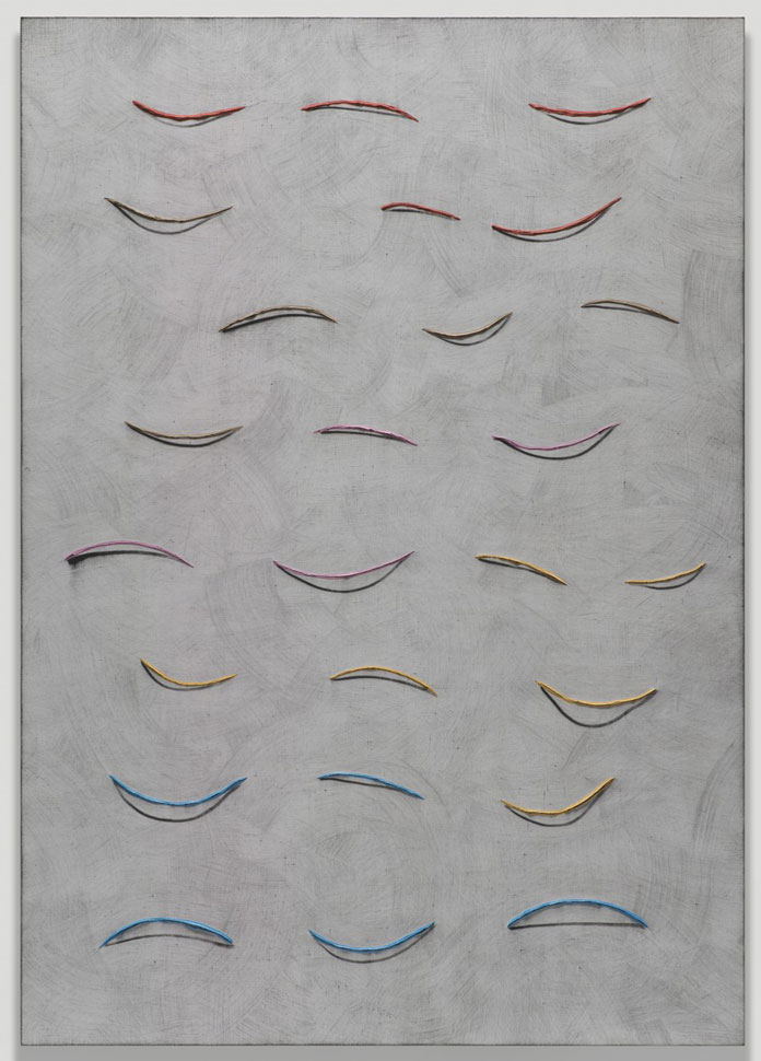 Alex Olson, Proposal 19, 2013, Oil and modelling paste on linen, 154.9 x 109.2 x 1.9 cm