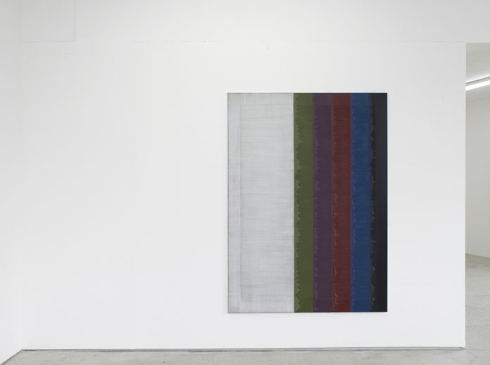 Alex Olson, Scene of Elastic Sight – Installation view, Laura Bartlett Gallery, London, 2015