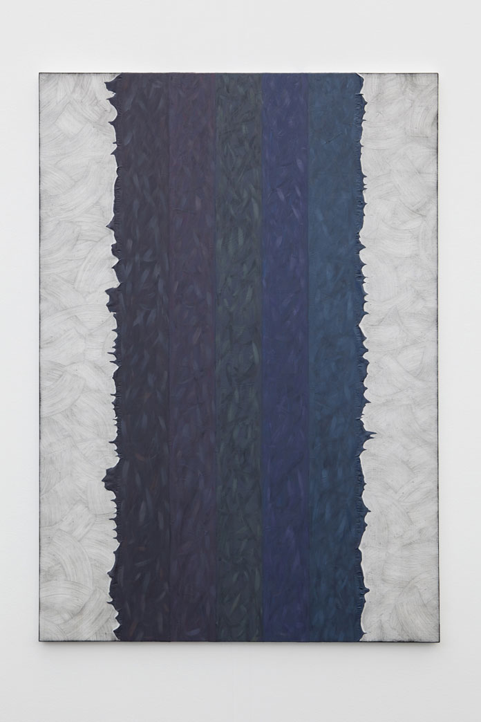 Alex Olson, Sunrise on Mars, 2014, Oil and modeling paste on linen, 154.9 x 109.2 x 2cm