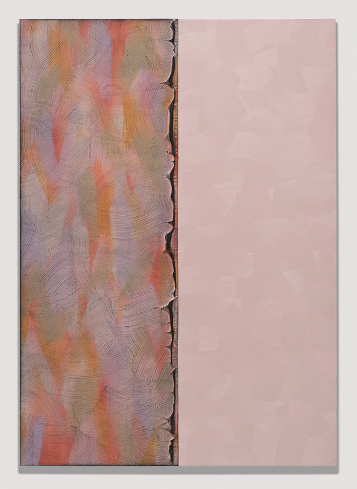 Alex Olson, Verse 1, 2014, Oil on modelling paste on linen, 51 x 35 in, 129.5 x 91.4 cm