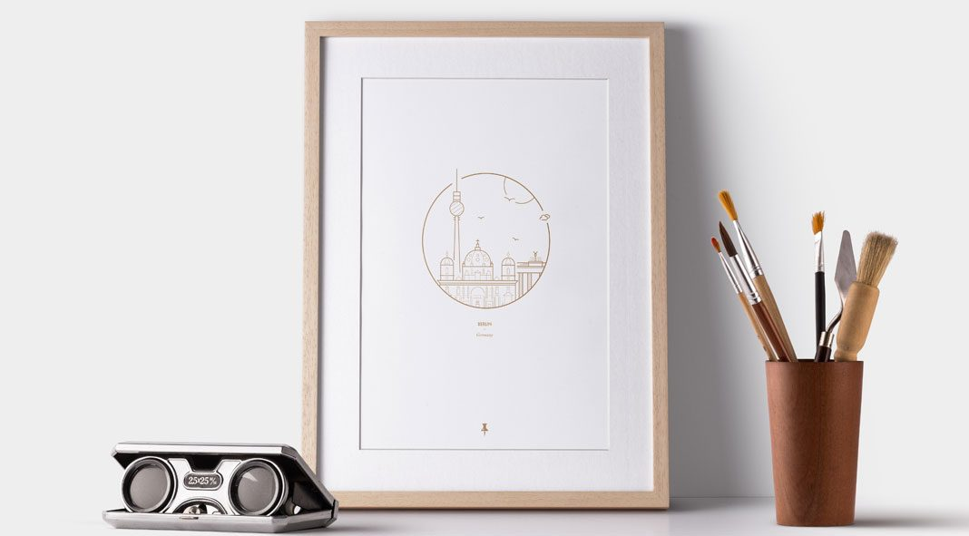 Berlin, Germany – cityscape illustrations wall art collection by Dean Robert Smith