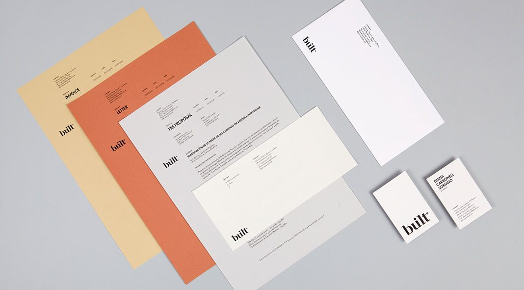 Corporate identity for Barcelona based architecture studio built.