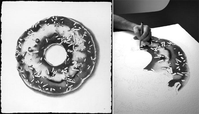 Donut with work in progress.