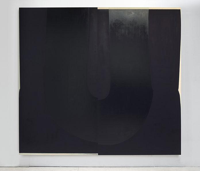 Nathlie Provosty – Doubleu (Straw Man). Oil on linen, 84 x 92 (213 x 234 cm), 2014