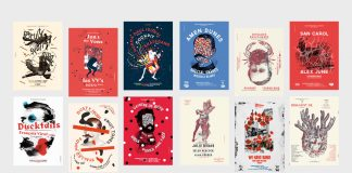 Gig posters by Michael Sallit.