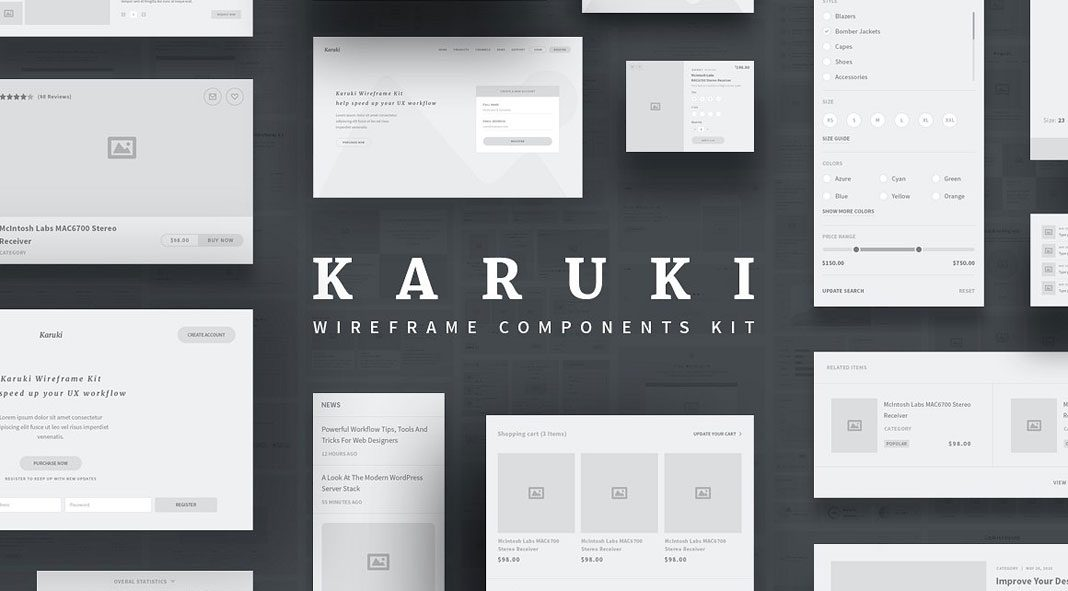 Karuki Wireframe Kit.