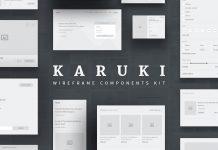 Karuki Wireframe Kit.