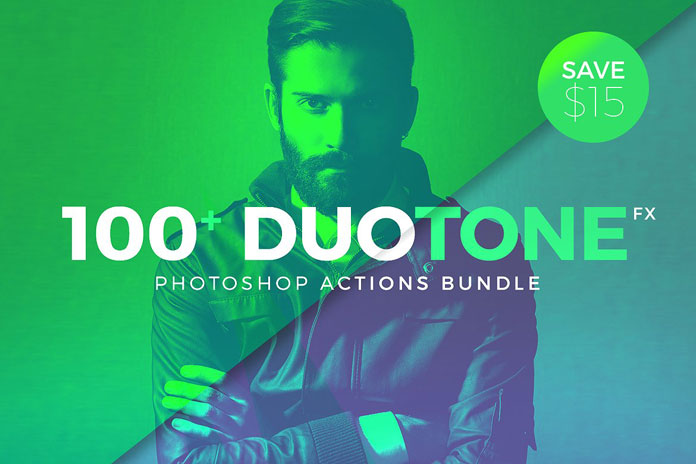 Over 100 duotone actions
