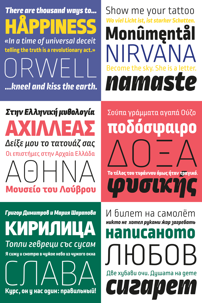 Ropa Mix Pro – type samples.