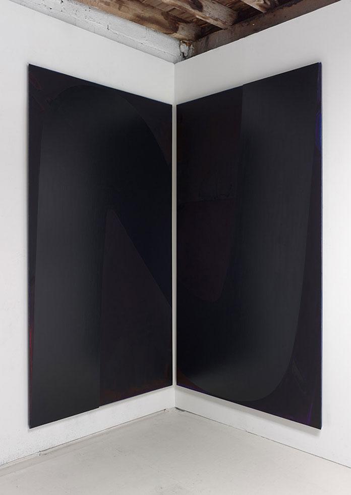 Nathlie Provosty – Salt. Oil on linen, two panels, each 96 x 52 (243.8 x 134.6 cm), 2016