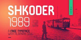 Shkoder 1989 - Free Typeface