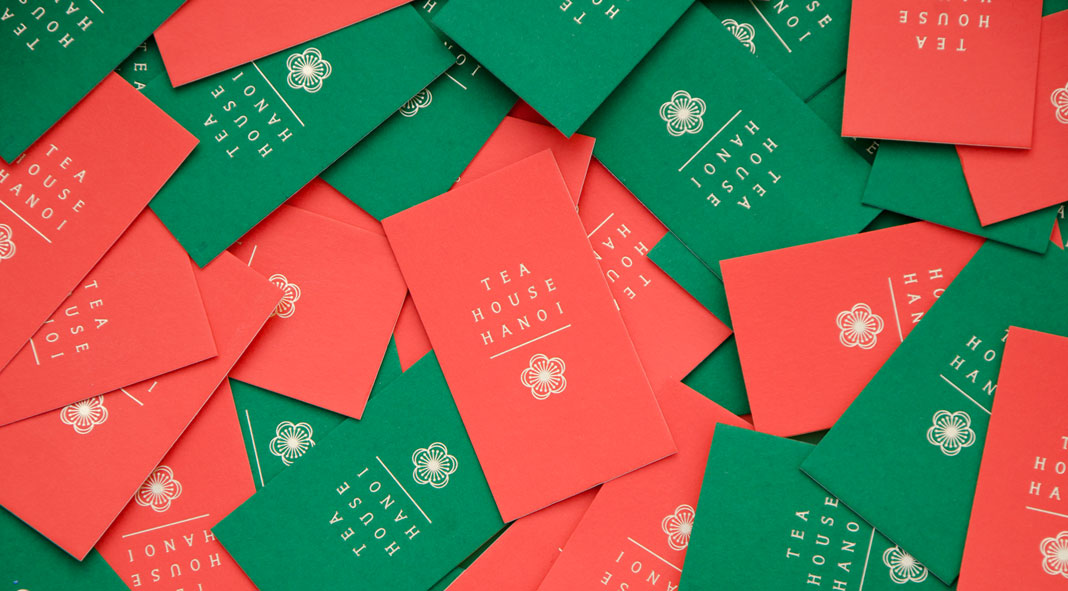 Tea House Hanoi brand and packaging design by Hung Le Ngoc.