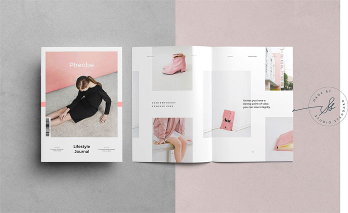 Fashion and lifestyle magazine template for Adobe InDesign.