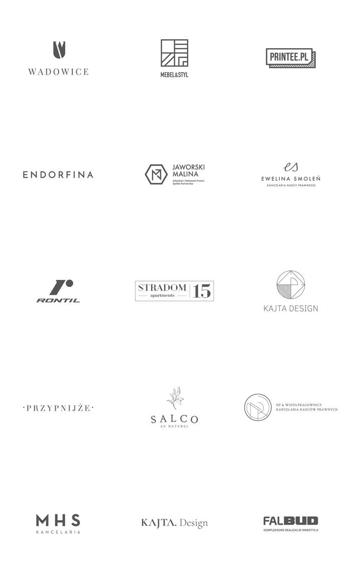 Logos designed by Łobzowska Studio.
