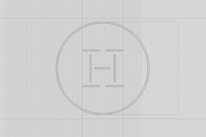 Simple and geometric logo construction.