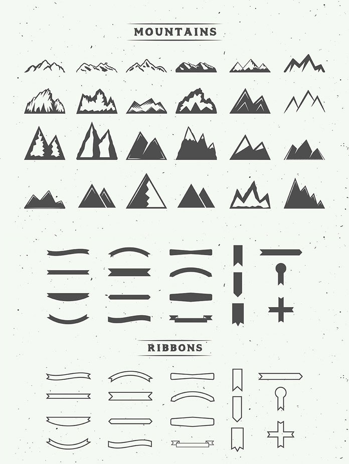 Mountains and ribbons.