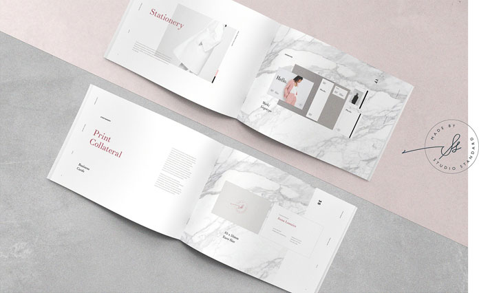 Adobe InDesign template with 42 pages.