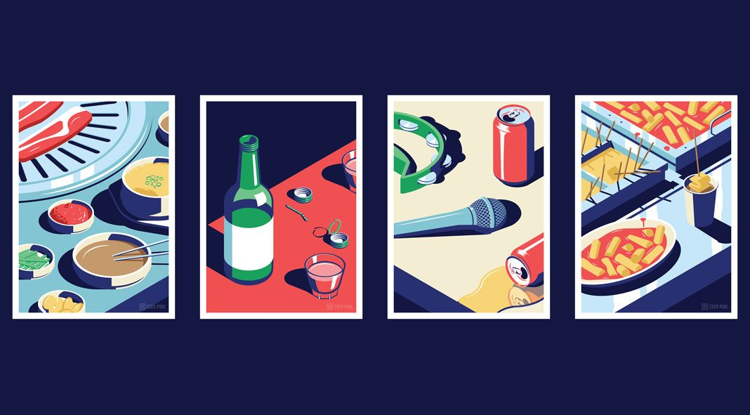 A Night Out in Seoul - illustration series by Coen Pohl.