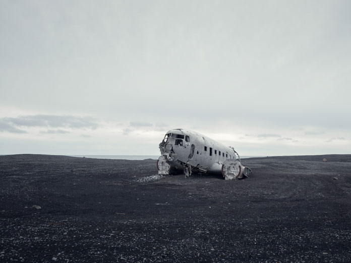 An old airplane wreck.