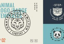 Animal logo templates from GraphicBurger.