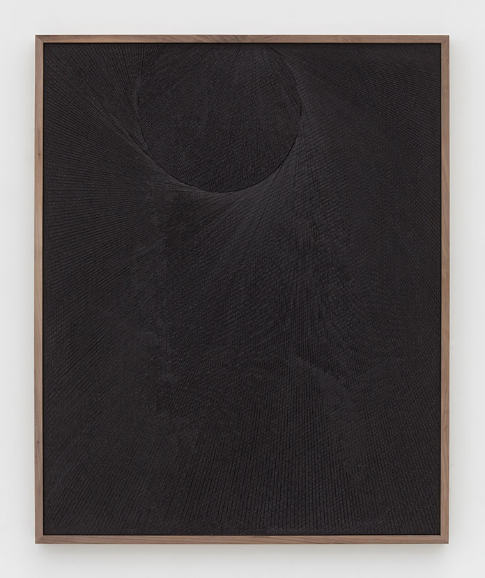 Anthony Pearson, Untitled (Etched Plaster), 2015, medium coated pigmented hydrocal in walnut frame.