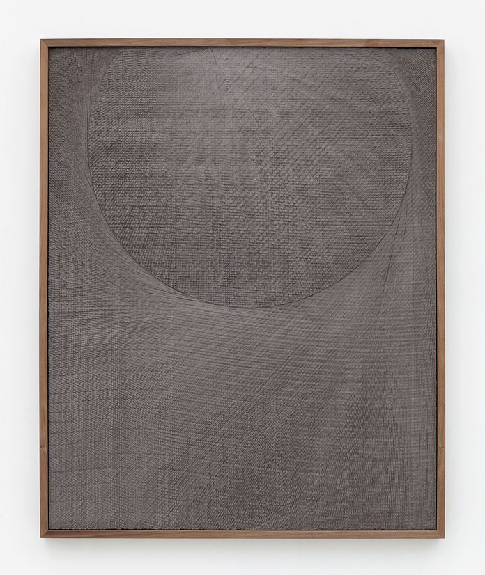 Anthony Pearson, Untitled (Etched Plaster), 2015, pigmented hydrocal in walnut frame.