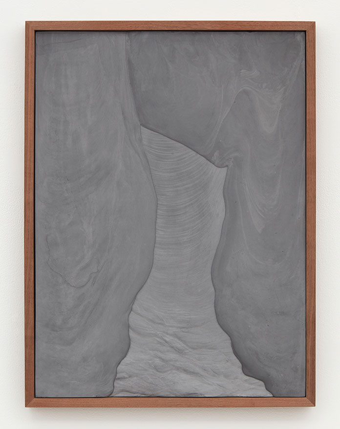 Anthony Pearson, Untitled (Plaster Positive), 2016, pigmented hydrocal in walnut frame.