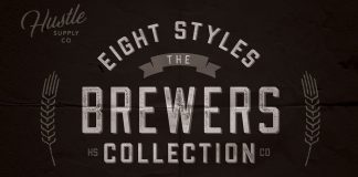 Brewers Font Collection 8 Fonts from Hustle Supply Co.