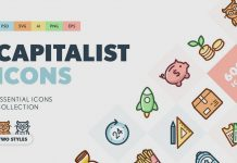Capitalist Flat Icons Collection from PixelBuddha.