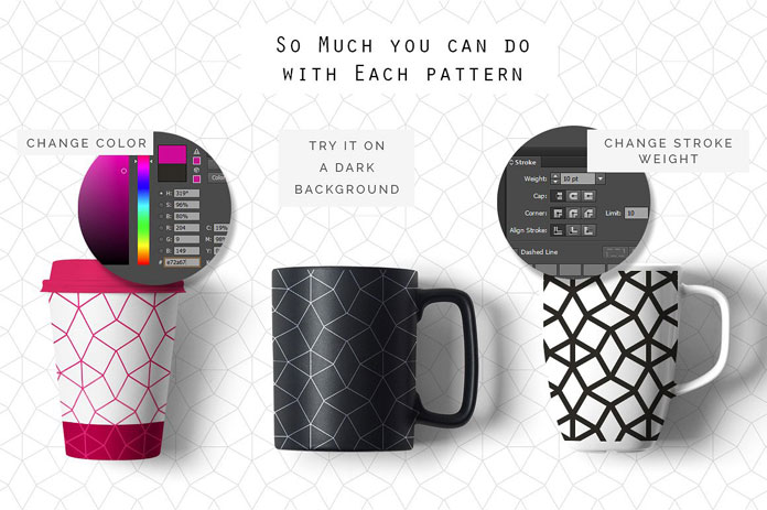 40 Seamless Geometric Line Patterns