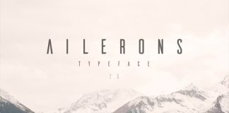 Free font Ailerons typeface by Adilson Gonzales de Oliveira Junior.