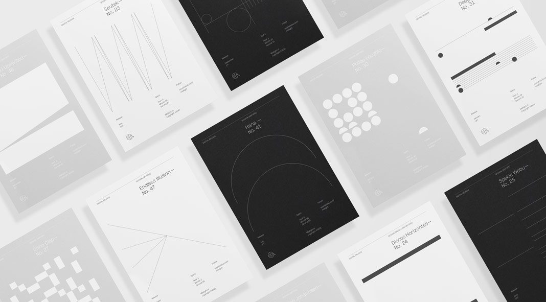 Midlight Records brand identity by Studio Naam.