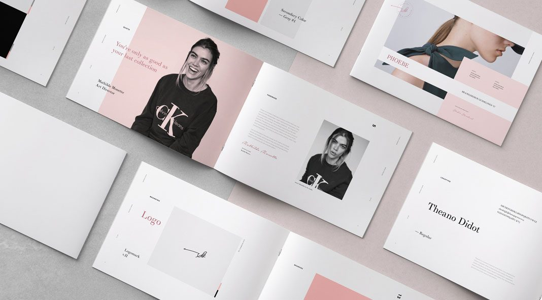 Phoebe: Adobe InDesign brand identity guidelines by Studio Standard.