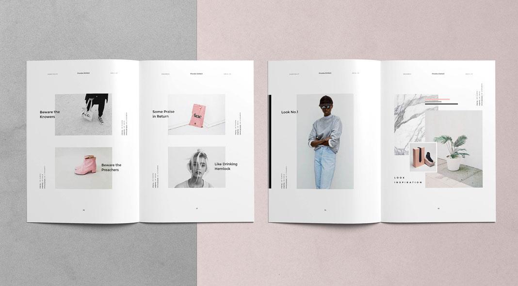 Magazine Template   Phoebe Adobe Indesign Magazine Template