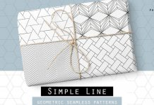 Simple line - geometric seamless patterns.