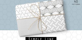 Simple line - geometric seamless patterns.