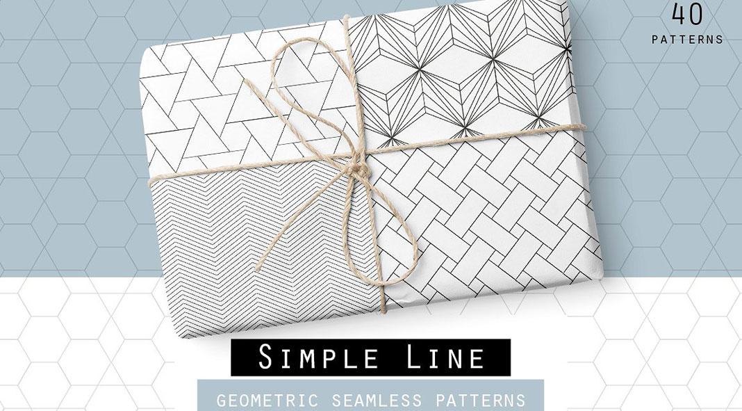 Simple Geometric Line Art : Seamless geometric line patterns
