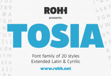 Tosia font family.