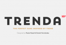 Trenda font family from Latinotype.
