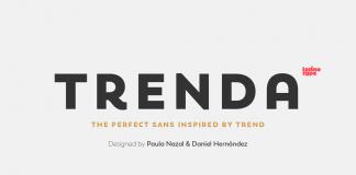 Trenda font family from Latinotype.
