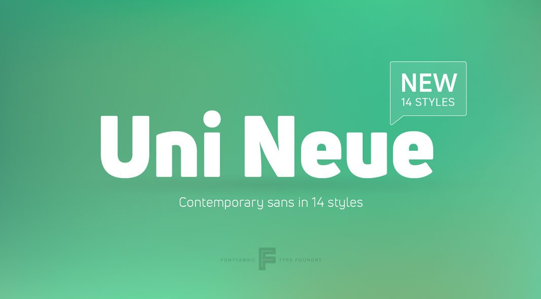 Uni Neue font family from Fontfabric.