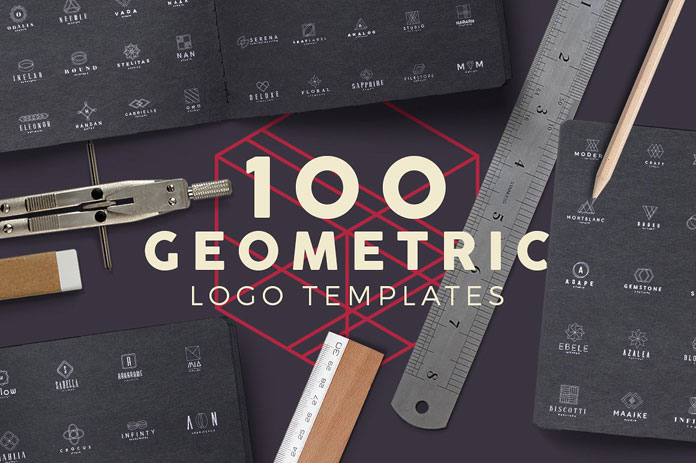 100 geometric logo templates from Zeppelin Graphics.
