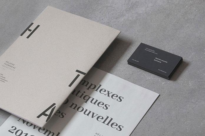 Héloïse Thibodeau Architecte – graphic design by Louis Paquet.