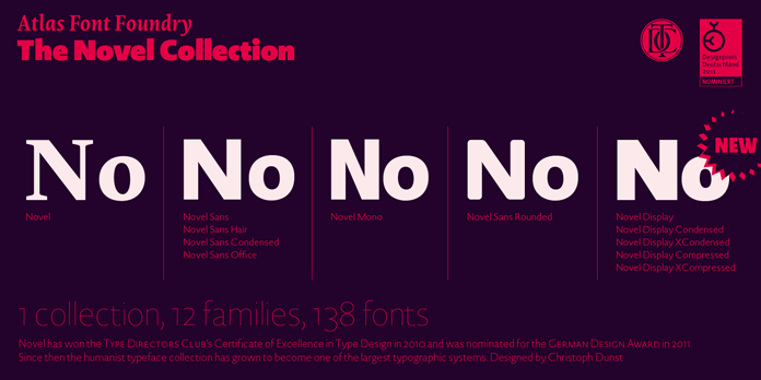 The Novel collection from Atlas Font Foundry.