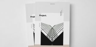 Project proposal brochure template from Moscovita.