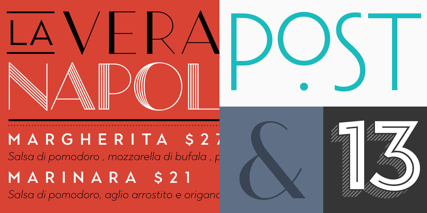 124 fonts inspired by Art Deco and contemporary lettering.